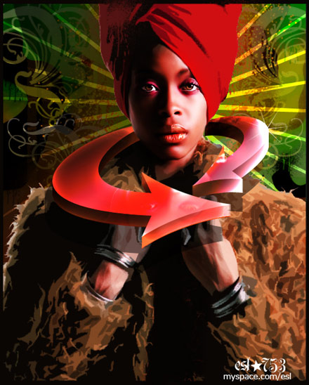 Erykah Badu mspace Artwork - ESL