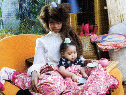 Erykah Badu and her daughter, Puma