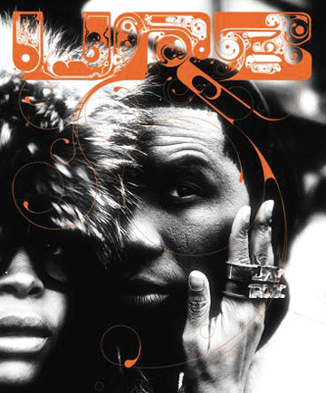 Erykah Badu and Jay Electronica on the cover of Urb magazine