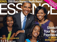 Essence magazine cover - The Obama family