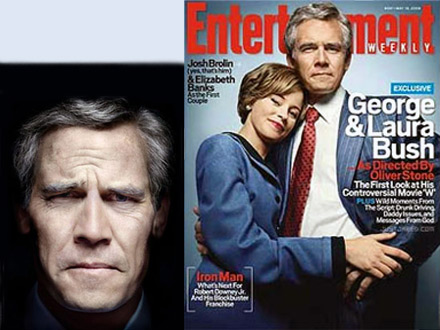Entertainment Weekly Cover Oliver Stone's George and Laura Bush
