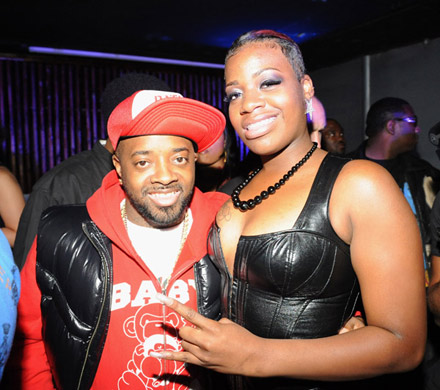 Jermaine Dupri and Fantasia at pre BET Hip-Hop Awards party