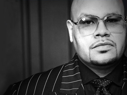 Fat Joe - black pin-striped suit