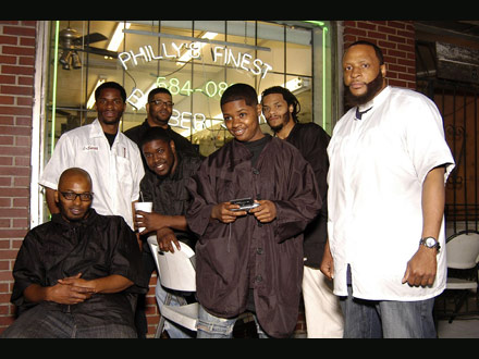 Philly's Finest barbershop - pic by hudgons