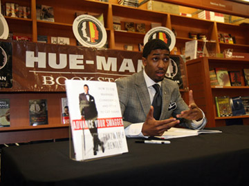 Fonzworth Bentley Signs his book at Hue-man