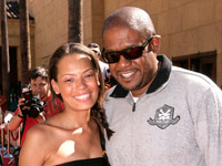 Forest Whitaker and Keisha Whitaker at Star Wars Clone Wars premiere