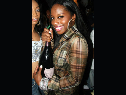 Foxy Brown about to pop a bottle