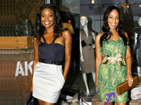 Gabrielle Union and Sanaa Lathan at Beckley Boutique
