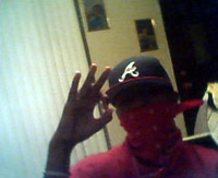 blood gang sign