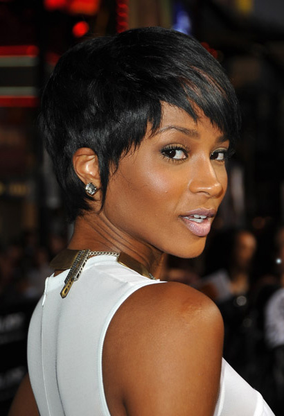 Ciara and her new haircut at G.I. Joe premiere in Los Angeles
