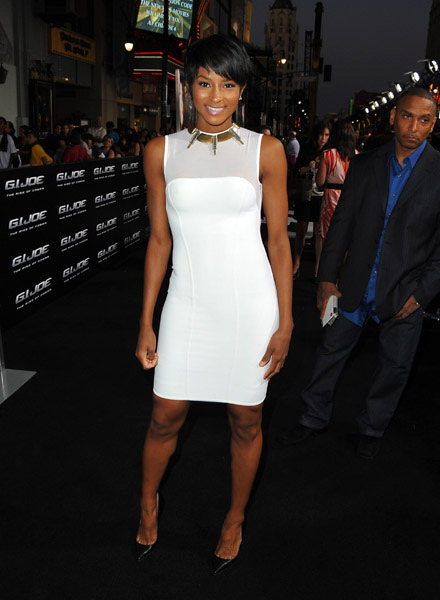 Ciara at G.I. Joe premiere in Los Angeles