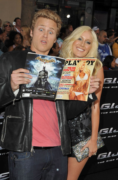 Heidi Montag and Spencer Pratt checks out Playboy at G.I. Joe premiere in Los Angeles