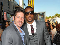 Marlon Wayan and Ray Park at G.I. Joe premiere in Los Angeles