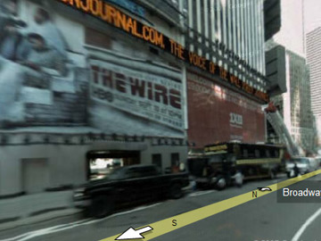 Google Maps - Times Square The Wire