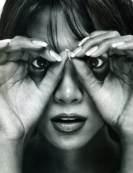 Halle Berry strikes a binocular pose