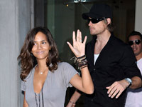 Halle Berry, Gabriel Aubry and Nahla in New York