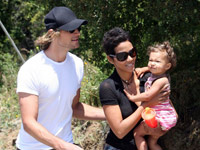 Halle Berry, Gabriel Aubry and Nahla Aubry at the Topanga County Fair