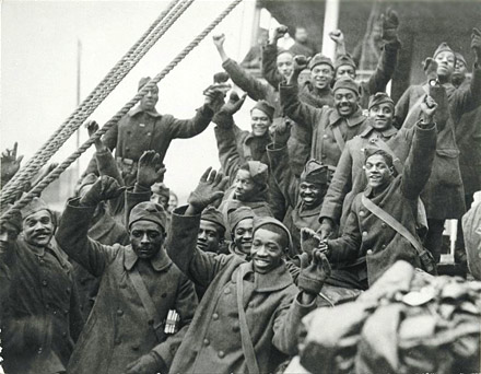 black soldiers return home from WW1