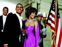 Tyra Banks as Michelle Obama in Harper's Bazaar