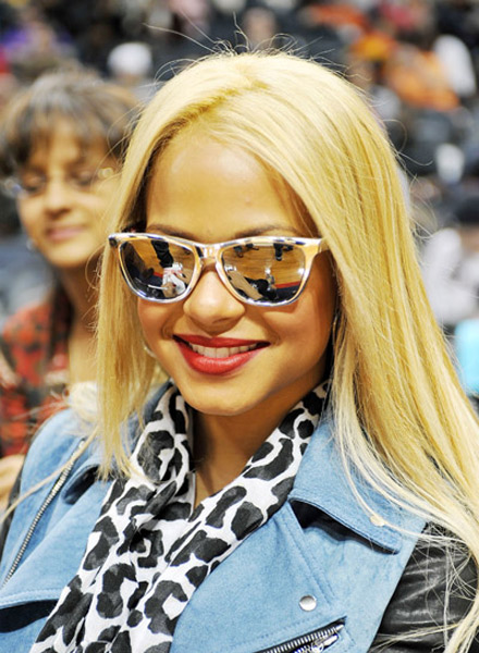 Christina Milian at Atlanta Hawks/Cleveland Cavaliers Game