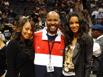 Ciara and lala at Atlanta Hawks game
