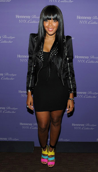 Angela Simmons at Hennessy  NyX Collectors Launch Party