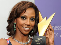 Holly Robinson with the Hennessy Privilege Award