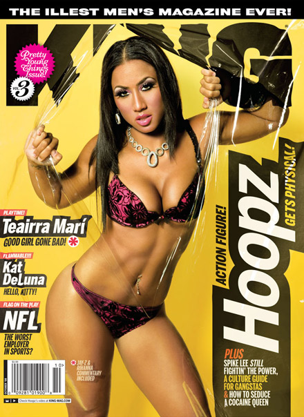 Hoopz on the cover of King magazine