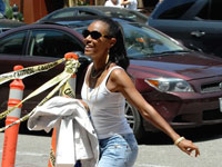 Jada Pinkett-Smith leaving Anastasia in Beverly Hills