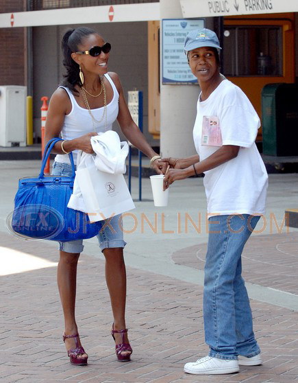 Jada Pinkett-Smith and a 'friend' outside Anastasia in Beverly Hills