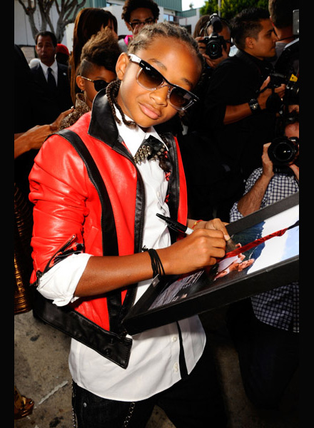 Jaden Smith signs autographs at Karate Kid premiere