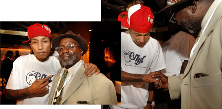 Jamie Foxx 40th Birthday - Pharrell and Jamie Foxx's father
