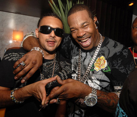 "Photo of Busta Rhymes & his friend musician  Sean Paul - Song ""Make it Clap"""