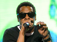 Jay-Z with a skull face t-shirt