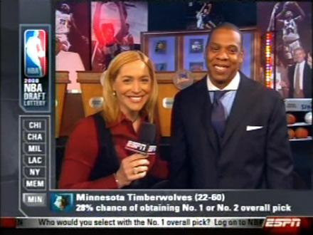 Jay-Z at the 2008 NBA Draft Lottery