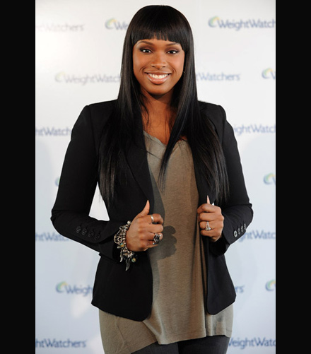 Jennifer Hudson's presents her new slim look for Weight Watchers