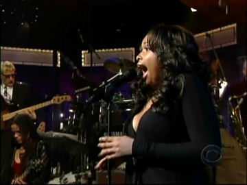 jennifer hudson - david letterman
