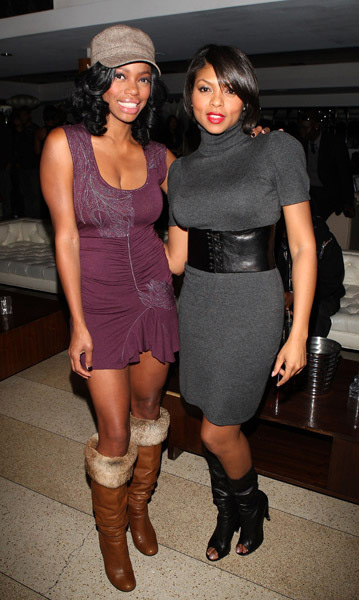 Jill Marie Jones and Taraji P. Henson at Tank's Birthday party