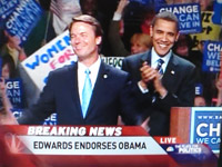 John Edwards Endorses Barack Obama