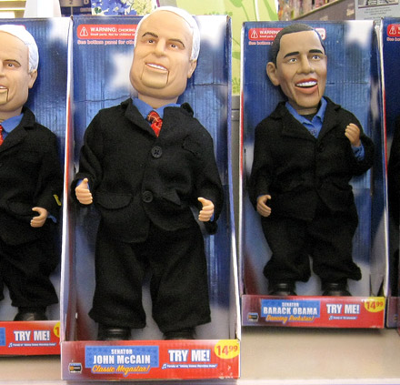 John McCain and Barack Obama 'Chucky' dolls