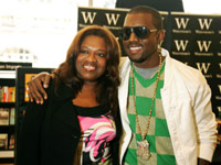 Kanye West and his mother Donda West