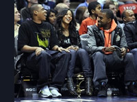 Kanye West, Jay-Z, Beyonce courtside at Nets/Supersonics game