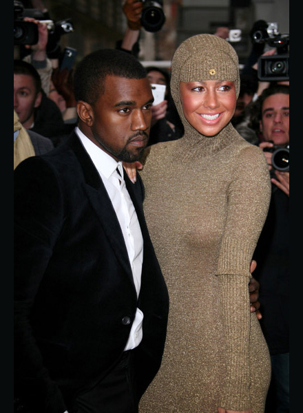 amber rose kanye west kiss. Kanye West and Amber Rose in