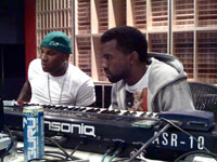 Kanye West and Young Jeezy in the studio