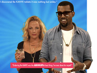 Kanye West in Absolut vodka Be Kanye infomercial