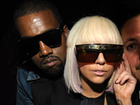Kanye West and Lady Gaga at Dj Reflex's birthday party