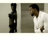 Kanye West in Love Lockdown video..