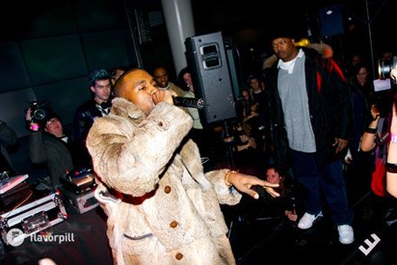 Kanye West performs at the Planetarium Central Park NY