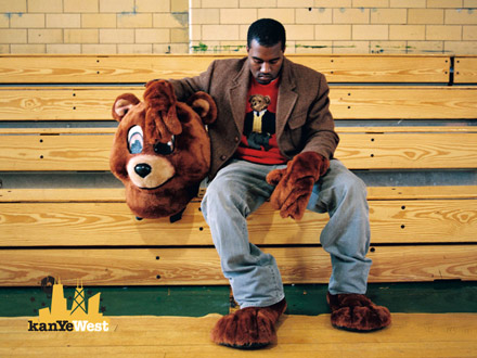 Kanye West in his Teddy costume