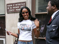 Kelly Rowland outside BBC's Radio 1 radio station